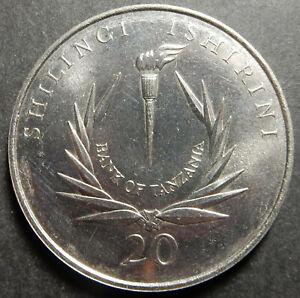 Tanzania 20 shillings 1986 CB's 20th Anniv. KM#21 Top grade Rare!