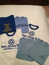 Lot Of 6 Vintage NJ Bell Telephone Single Stitch Graphic T-Shirts Size XL