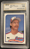 Randy Johnson ROOKIE RC #647 1989 Topps 10 GEM MINT Montreal Expos