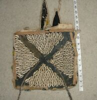 Rare OLD Ancient African Art Shaman Bag Beads COWRIE SHELLS Tote Backpack Museum