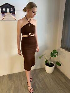 Nayla Cut Out Dress - Chocolate