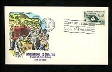 Postal History Canada Scott #437 Overseas Mailer FDC UN ICY 1965 Ottawa ON