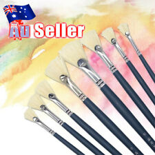 8pcs Artist Fan Shape Paint Brushes Set For Acrylic Watercolor Oil Painting