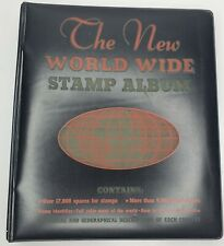 Unused 1968 The New World Wide Stamp Album Minkus Publications Book Color Map