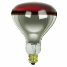 Red Heat Lamp 375 Watts 120 Volts R40 Reflector Infrared Incandescent Light Bulb