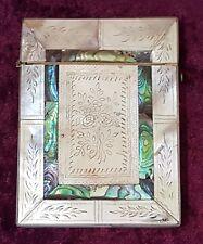 Mérou & Mother Of Pearl Vintage Victorian ANTIQUE Card Case Box