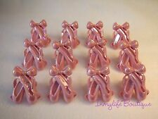 24 BALLERINA Slippers Pink Cupcake Ring Favor Supplies Rings Topper Birthday B