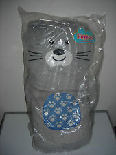 "HUGGEEZ HUGGABLE CUSHION GRAY CAT 26"" SUPER SOFT PLUSH THROW PILLOW"