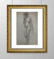 SIMONE BLANC-DEROCQUE (1903-2000) SUPERBE NU FEMININ VERS 1930 (25)