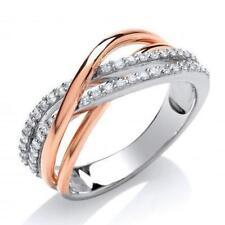 Unbranded Natural Multi-Tone Gold Fine Diamond Rings