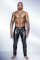men punk Gothic stripper leather trousers dance Long Pants Fitness S--XXL 6722