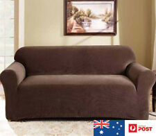 SUREFIT Couch Cover 2 Seater Sofa Stretch Slip Cover 147 to 185cm Coffee