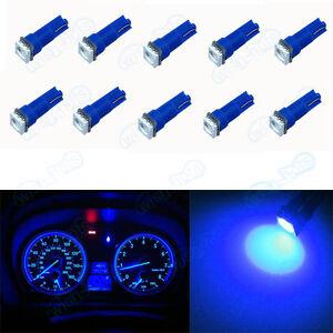 10Pcs Blue T5 Wedge 1-SMD Instrument Gauge Cluster LED Light Bulb For Nissan VL
