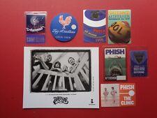 Phish,Trey Anastasio,B/W promo photo,7 backstage passes,Rare Originals