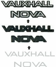 Vauxhall Nova SR SRi  Rear overlay Badges Vinyl Decals Stickers Parts x2 SETS!