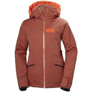 Helly-Hansen Women's Glory Waterproof Insulated Ski Jacket, Red Brick,199 ''