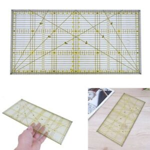 Acrylic Quilt Quilting Grid Ruler Patchwork Tailor Sewing Cutting Craft 30*15cm
