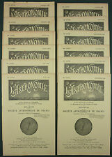 L'ASTRONOMIE : BULLETIN DE LA SAF - 1940 ANNEE COMPLETE 12 N° - METEOROLOGIE