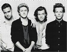 One Direction Cross-Stitch Pattern Chart