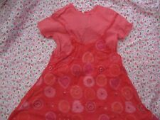 Girls catimini dress size 4 cotton - used