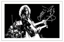 JIMMY PAGE SIGNED PHOTO PRINT AUTOGRAPH FACES LED ZEPPELIN THE YARDBIRDS