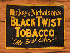 "TIN-UPS TIN SIGN ""Black Twist Tobacco"" Vintage Rustic Wall Decor"