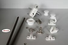 Möbelschloß Push Lock Schloß  weiß  Möbelgriff  für Waschraum Toilette  15mm