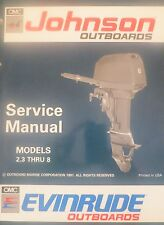 1992 Johnson Evinrude 2.3 3 3.3 4 5 6 8 HP Outboard Service Repair Manual OMC