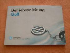 Betriebsanleitung VW Golf 3 / III ,Stand 1994