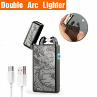 USB Electric Lighter Windproof Rechargeable Double Arc Flameless Plasma