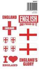 Aufkleberset England Flaggen Sticker Fahnen Großbritannien Länder Love Liebe