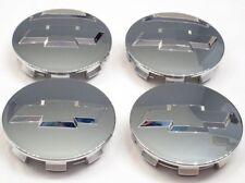 "4x Chrome Wheel Center Hub Cap Chevy Chevrolet 3.25"" 83mm 18"" 20"" 22"" 9596403"
