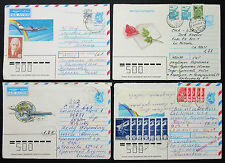 Russia USSR CCCP Set of 4 Covers Illustrated Airmail Lupo Russland Briefe H-8201