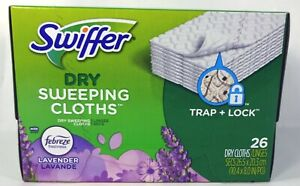 Swiffer Dry Sweeping Cloth Pad Refills, Lavender Scent With Febreze (26 Count)