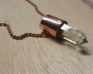 Herkimer Diamond Quartz Crystal Pendant Necklace_Handmade Copper_JESUSDNA #10