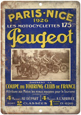 "Peugeot Motorcycle Paris France Ad 10"" X 7"" Reproduction Metal Sign F24"