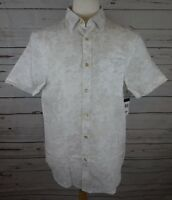 NEW Sean John Men's Linen Shirt Bright White Large MSRP $69.50