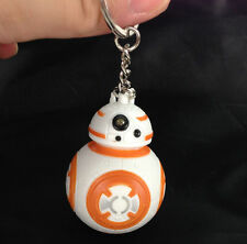 New Star Wars BB-8 Light Up LED Torch With sound Keyring KeyChain USYS193