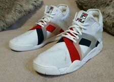 Fila The Cage 17 Mens White Navy Red Basketball Shoes 1BM00026 125 Sz 12