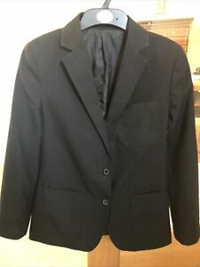 Girls School Blazer, Black, Marks and Spencer, Age 13-14, Good Condition