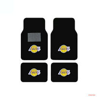 New 4pcs NBA LA Los Angeles Lakers Car Truck Front Back Carpet Floor Mats Set