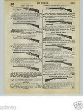 1932 PAPER AD Daisy King Brand Remington Air Rifle BB Gun Military Savage Toy