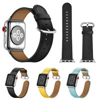 Real Leather Band Strap Bracelet Watchband For Apple Watch iWatch 38mm / 42mm