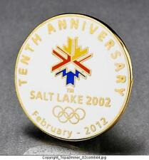OLYMPIC LAPEL PINS 2002 SALT LAKE CITY UTAH 10TH ANNIVERSARY MEDALLION  MEDAL