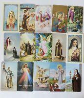Fratelli Bonella Prayer Cards, Lot Of 15 Vintage Catholic Cards, Italy, 1960's