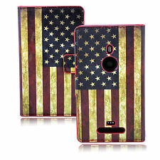 Retro PU Leather Wallet Style Flip Phone Case Cover Stand For Nokia Lumia 925