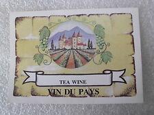 30 pack of Tea wine labels