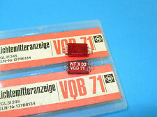 VQB71 , Rare 7-segment Red LED Display Common Cathode - 1pcs