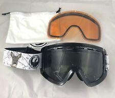 Dragon D1 Snow Goggle - Realm with Dark Smoke + Lumalens low light bonus lens