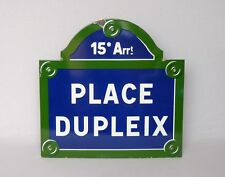 Large, Authentic VINTAGE FRENCH ENAMELWARE STREET SIGN from PARIS
